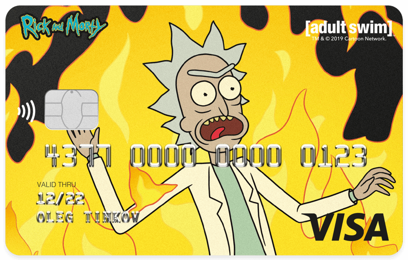 Tinkoff Black Rick and Morty